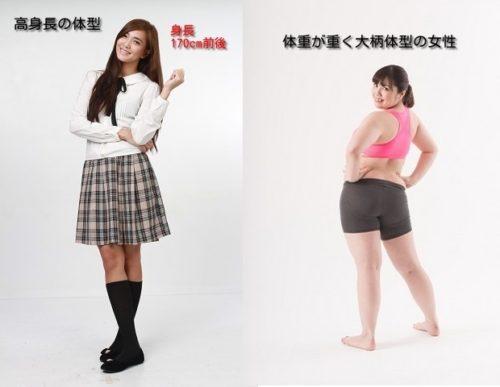高身長・大柄体型の女性
