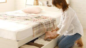 ベッド下の収納に、何を入れてる?と収納ベッドデメリット回避方法!