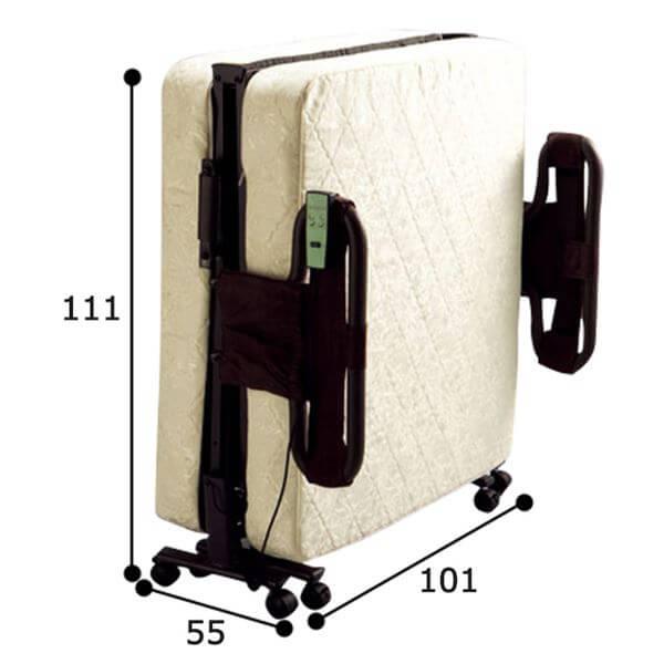 組立不要・マットレスが選べる折りたたみリクライニング電動ベッド