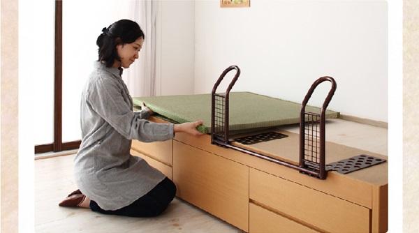 ベッドガード付畳ベッド