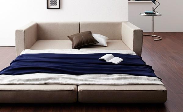 ポケットコイルで快適快眠ゆったり寝られるデザインソファベッド【Ceuta】セウタ