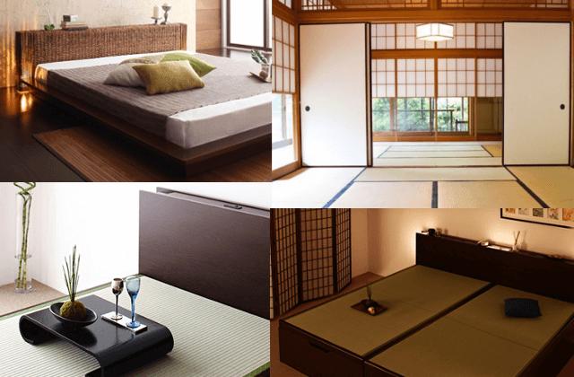 和室とアジアンテイストベッド