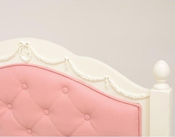 高級!木製マホガニー 姫系・収納ベッド フレーム本体