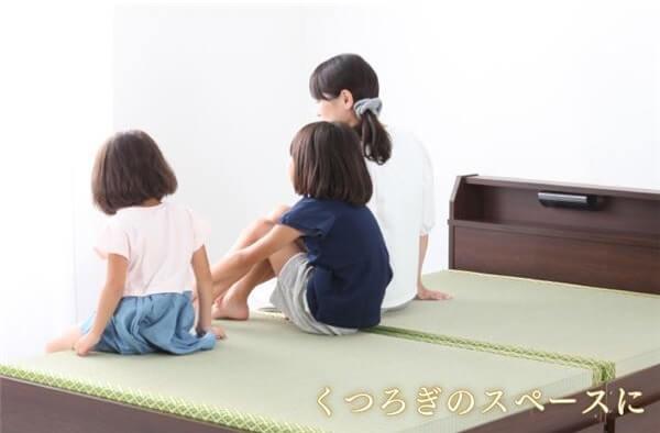 照明付き日本製 引出し収納付き畳ベッド ロータイプ/ハイタイプ
