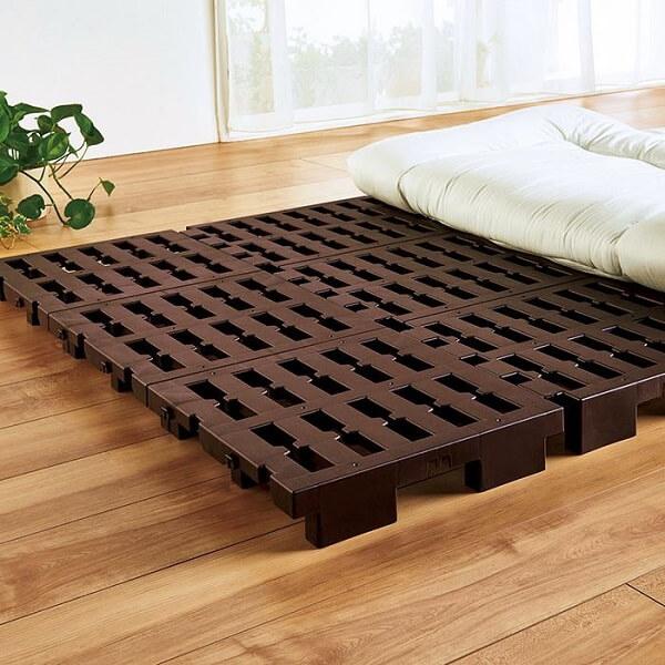 湿気対策!軽量すのこベッド