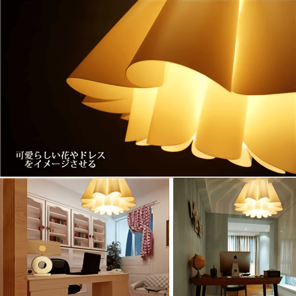 北欧風ペンダントライト (吊り下げ照明器具) 花/ドレスモチーフ